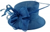 Elegance Collection Quill and Loops Wedding Hat in Cobalt