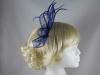 Elegance Collection Sinamay Fascinator in Cobalt