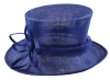 Elegance Collection Sinamay Flower Occasion Hat in Cobalt