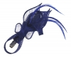 Elegance Collection Small Sinamay Clip Fascinator in Cobalt