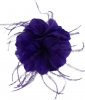 Failsworth Millinery Feather Fascinator in Cobalt