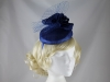 Failsworth Millinery Flower Pillbox in Cobalt