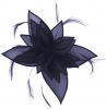 Failsworth Millinery Organza Leaves Fascinator in Cobalt