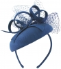 Failsworth Millinery Silk Pillbox in Cobalt