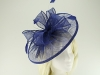Failsworth Millinery Sinamay Disc Headpiece in Cobalt