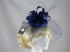 Failsworth Millinery Veiled Headpiece in Cobalt