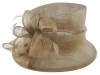 Hawkins Collection Down Brim Wedding Hat in Coffee