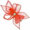 Elegance Collection Diamante Clip Fascinator in Coral