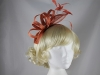 Elegance Collection Fascinator with Diamante in Coral