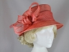 Failsworth Millinery Diamante Wedding Hat in Coral