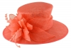 Failsworth Millinery Occasion Hat in Coral