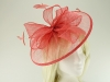 Failsworth Millinery Sinamay Disc Headpiece in Coral