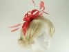 Failsworth Millinery Sinamay Fascinator in Coral
