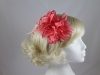 Flower Fascinator in Coral