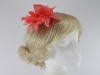 Aurora Collection Flower Fascinator in Coral