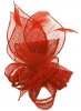 Molly and Rose Sinamay Comb Fascinator in Coral