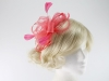 Molly and Rose Two Tone Fascinator in Coral