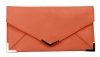 Papaya Fashion Faux Leather Bag in Coral