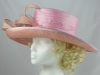 Coral and Pink Wedding Hat