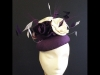 Couture by Beth Hirst Purple Silk Beret and Flowers