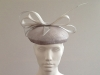 Couture by Beth Hirst Henrietta � Silver Large Beret with Bow