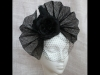 Couture by Beth Hirst Black Pleated Fan with Flowers