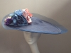 Couture by Beth Hirst Navy Large Saucer with Multicolour Silk Flowers