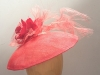 Couture by Beth Hirst Red Dior esque Saucer with Flowers and Crin