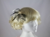 Two Tone Rose Fascinator in Cream & Black