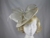 Failsworth Millinery Disc in Cream-Silver