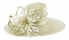 Failsworth Millinery Ascot Hat in Cream-Silver