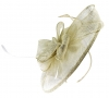 Failsworth Millinery Sinamay Headpiece in Cream-Silver