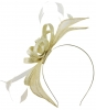 Failsworth Millinery Sinamay Fascinator in Cream-Silver