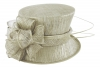 Failsworth Millinery Wedding Hat in Cream-Silver