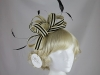 Hawkins Collection Two Tone Loops Headpiece in Cream & Black