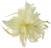 Aurora Collection Flower Comb Fascinator in Cream