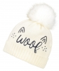 Boardman Pet Bobble Hat in Cream
