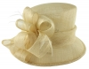 Hawkins Collection Down Brim Wedding Hat in Cream
