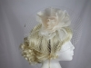 Hawkins Collection Flower and Net Headpiece in Cream