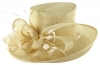 Hawkins Collection Upbrim Occasion Hat in Cream