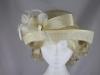 Hawkins Collection Upbrim Wedding Hat in Cream