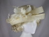 Hawkins Collection Upbrim Wedding Hat in Cream