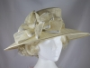 Hawkins Collection Wide Loops Occasion Hat in Cream