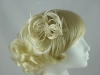 Loops in Hessian Fascinator in Cream