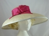 Cream and Pink Ascot Hat