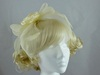 Flower and Veil Fascinator in Cream