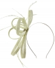 Failsworth Millinery Sinamay Loops Fascinator in Cream-Silver