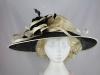 Hawkins Collection Down Brim Events Hat in Cream & Black