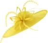Failsworth Millinery Aliceband Saucer Headpiece in Daffodil