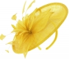 Failsworth Millinery Mini Disc in Daffodil